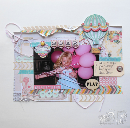 Soar Layout by Tonya Gibbs http://www.psychomomscrapbooks.blogspot.com
