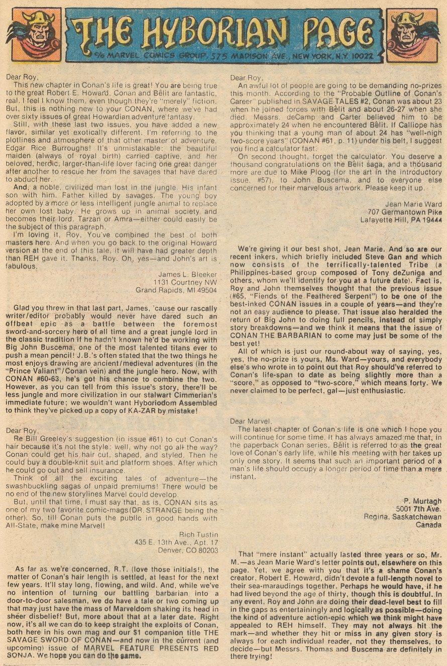 Conan the Barbarian (1970) Issue #66 #78 - English 13