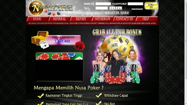 daftar judi poker online uang asli nusapoker