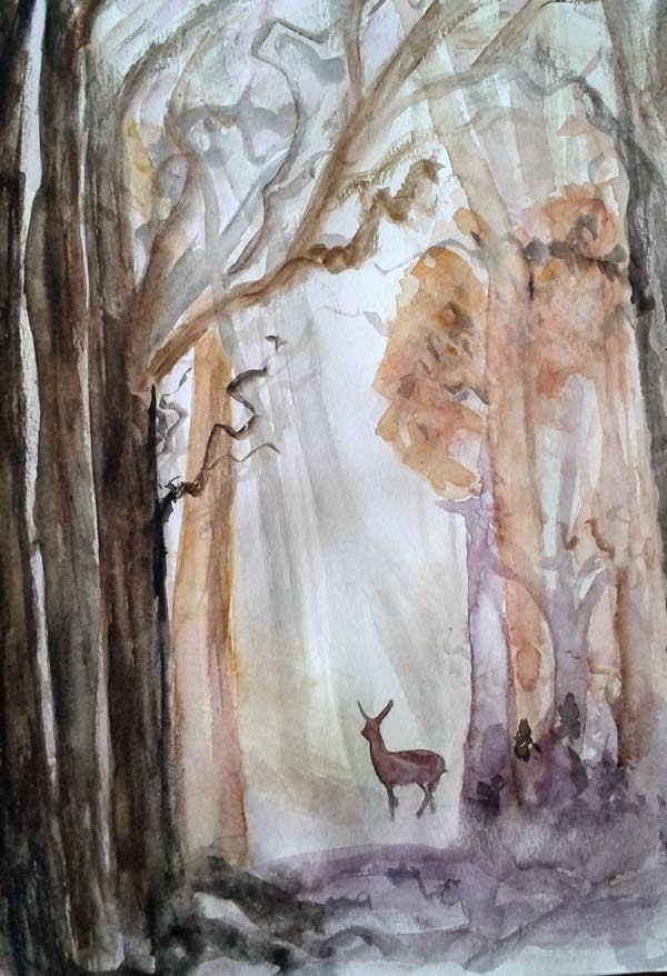 forest watercolor