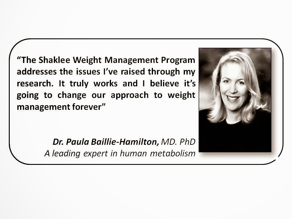 dr paula baile hamilton- shaklee weight program
