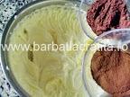 Tort cu nuca preparare reteta crema - adaugare cacao si cafea solubila