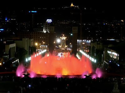 Montjuïc Magic Fountain in Barcelona