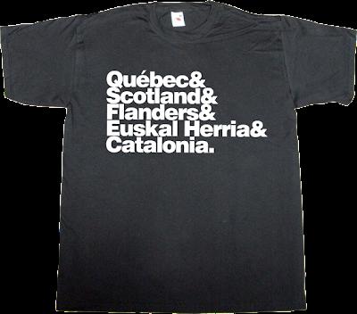 scotland catalan catalonia euskal herria flanders quebec 11 septembre countdown t-shirt ephemeral-t-shirts