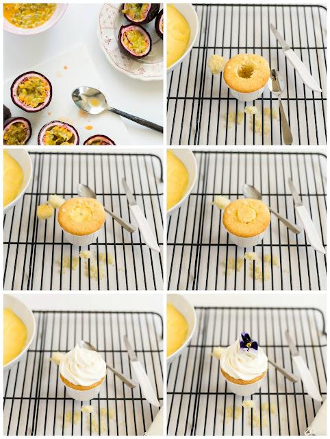 passionfruit cupcake filling cream curd