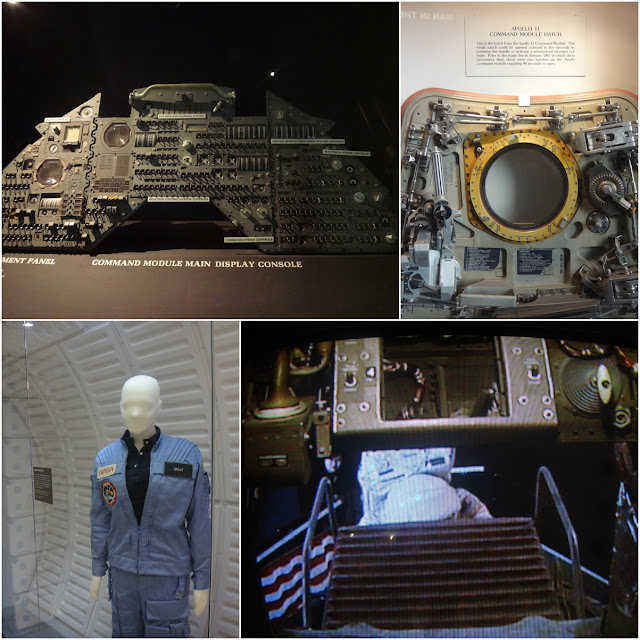 Spacecraft components display at Space and Air Museum in Washington DC, USA