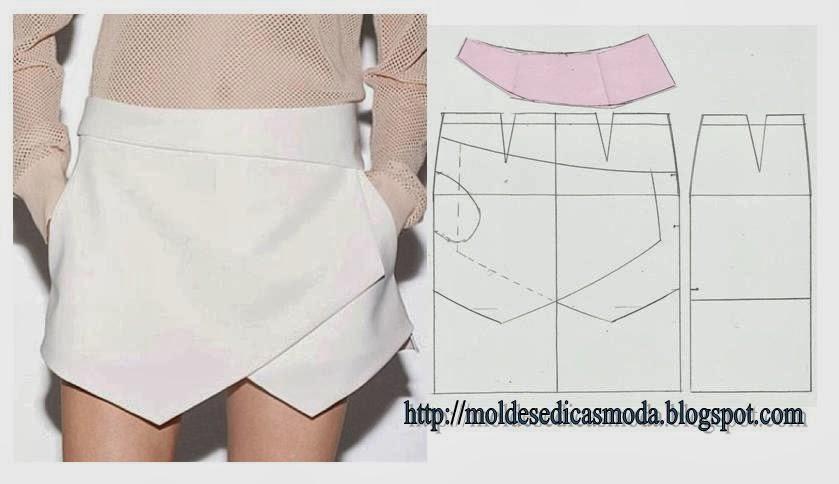 Сложная юбка выкройки