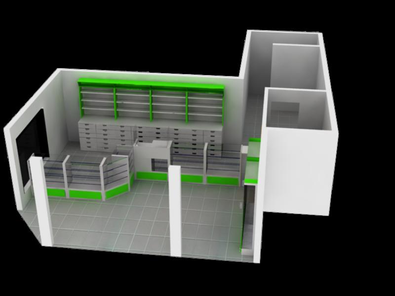 Mobiliario para farmacia mostradores para drogueria y for Mobiliario para planos