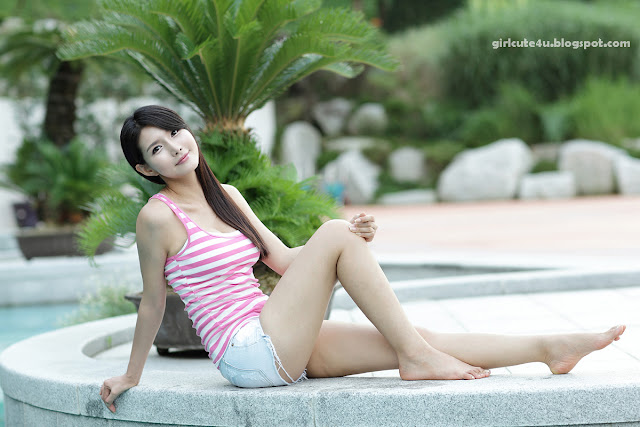 2 Cha Sun Hwa-White and Pink-very cute asian girl-girlcute4u.blogspot.com