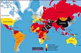 Mapa de los países con mayor censura a Internet