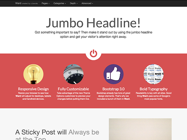 Ward - free creative & corporate WordPress theme