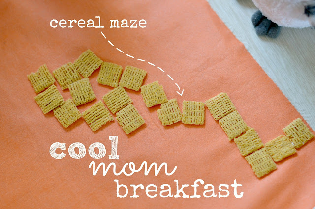 Cereal Maze, Cereal maze with Life cereal,  Easy fun breakfast for kids, Building with cereal, #cbias #shop