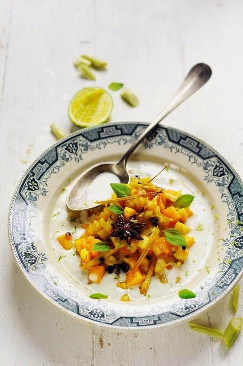 Dessert exotique tique tique ananas mangue coco… un dessert sans efforts…