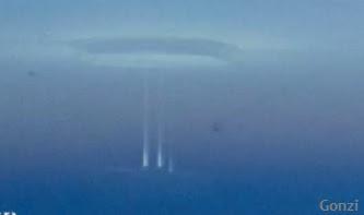 raras luces en el ártico portal extraterrestre