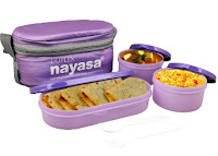 Buy Nayasa Purple 6000 Ml Plastic Duplex Tiffin Set at Flat 72% off at Rs 308 Via Snapdeal :Buytoearn