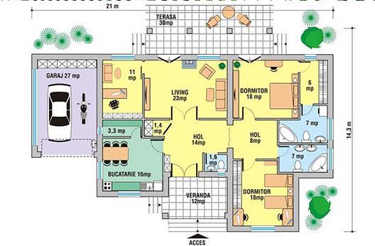 Planos de casas modelos y dise os de casas plano de for Modelos de casas de campo de una planta