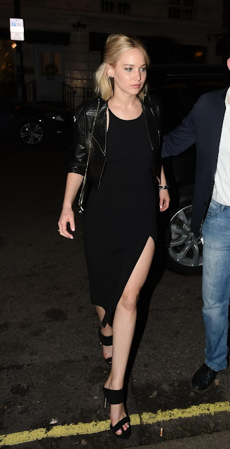 Actress, @ Jennifer Lawrence - Leaving Chiltern Firehouse in London