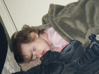 Sasha on Floor outside Closet