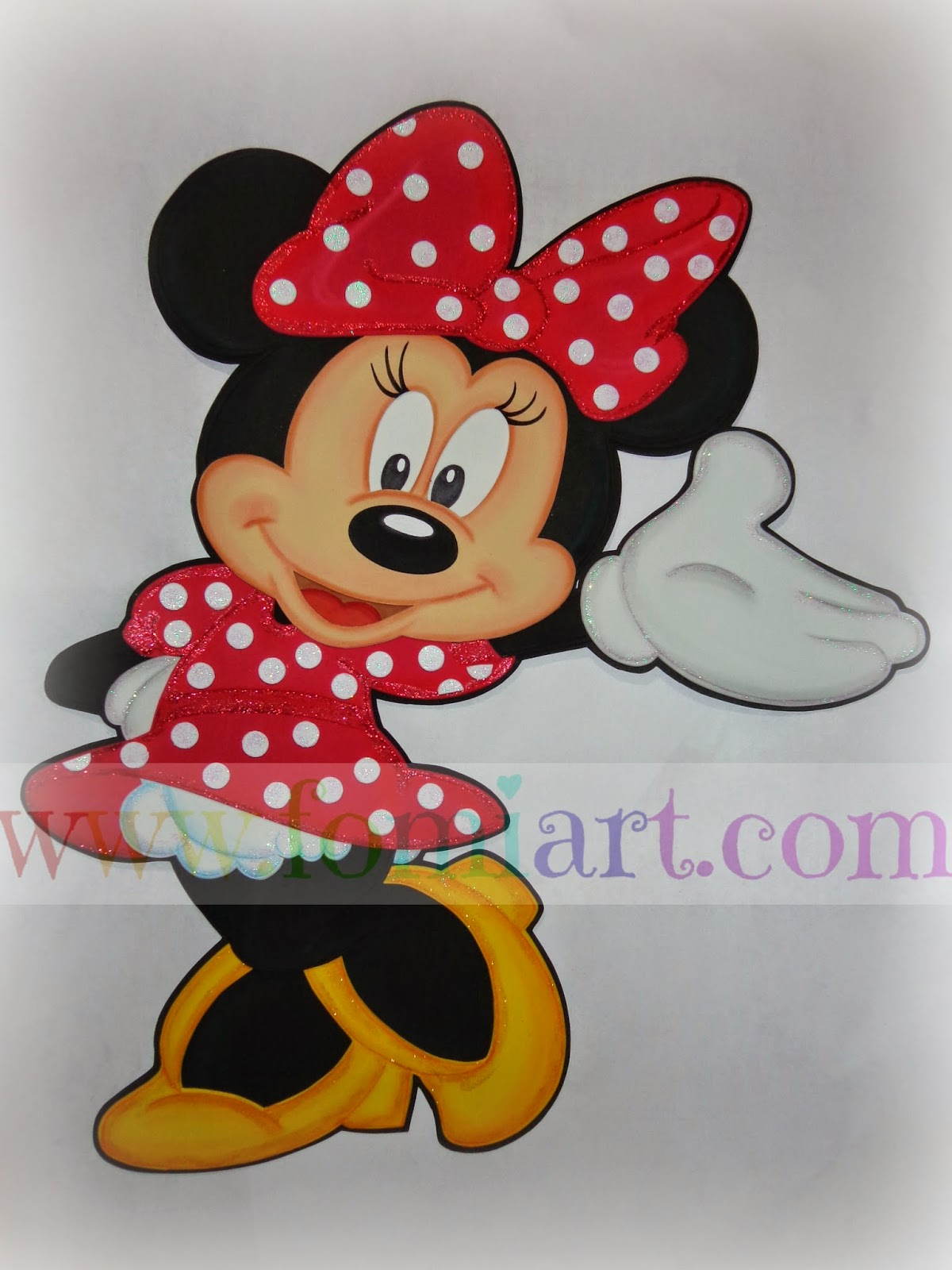 Minnie Mouse En Foamy, fomo Goma Eva