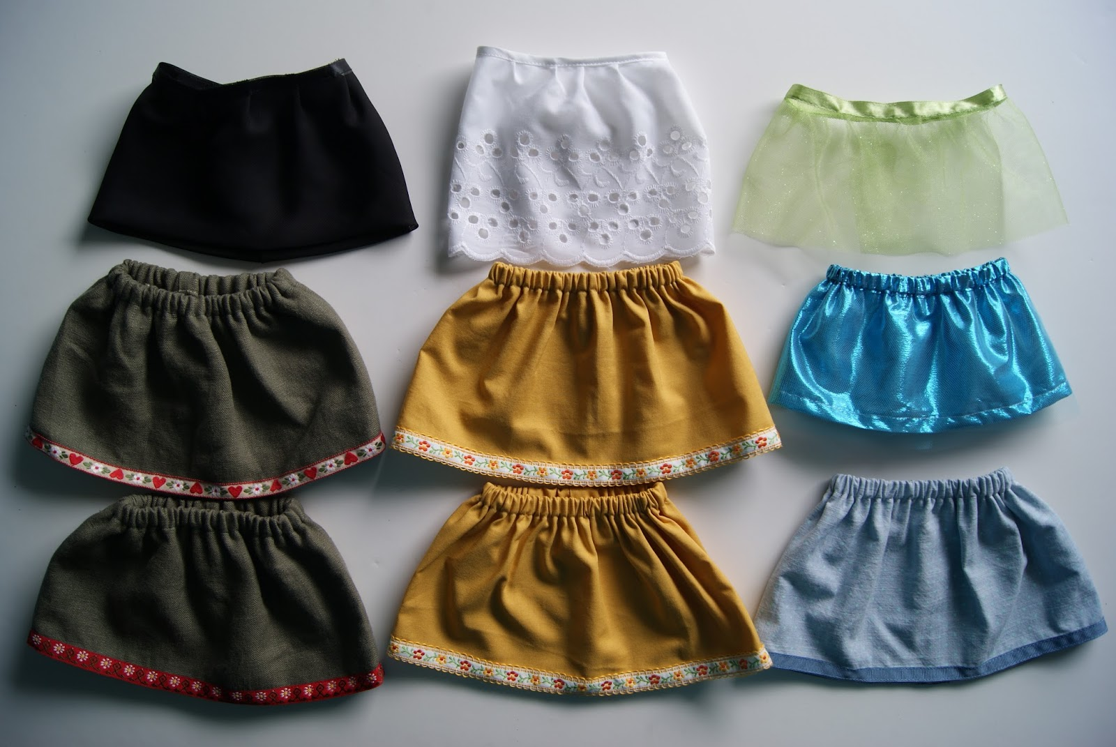 18-inch doll skirts giveaway at nest full of eggs