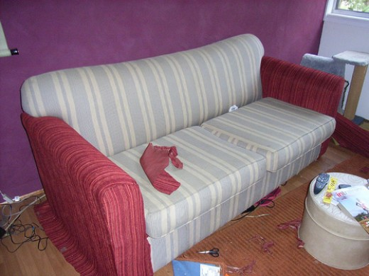 5 steps reupholstering couch in living room sofa upholstery. Black Bedroom Furniture Sets. Home Design Ideas