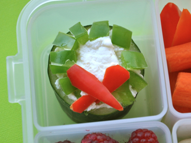 Cucumber Wreath in Bento Lunch