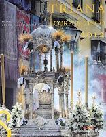 Información con los horarios y recorridos de las procesiones del Corpus de Triana, la Magdalena y San Isidoro