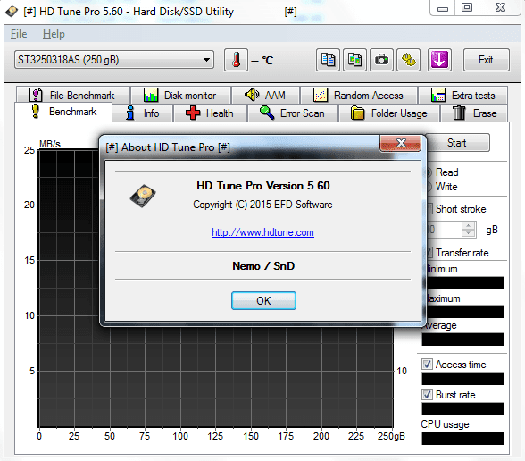 HD Tune Pro 5.60 Full Crack - AcehDC | Free Download Software Full Version