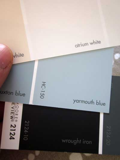 Heres What Ive Picked Benjamin Moore Yarmouth Blue HC 150 For The Walls Atrium White Trim And Wrought Iron 2124 10 Windows