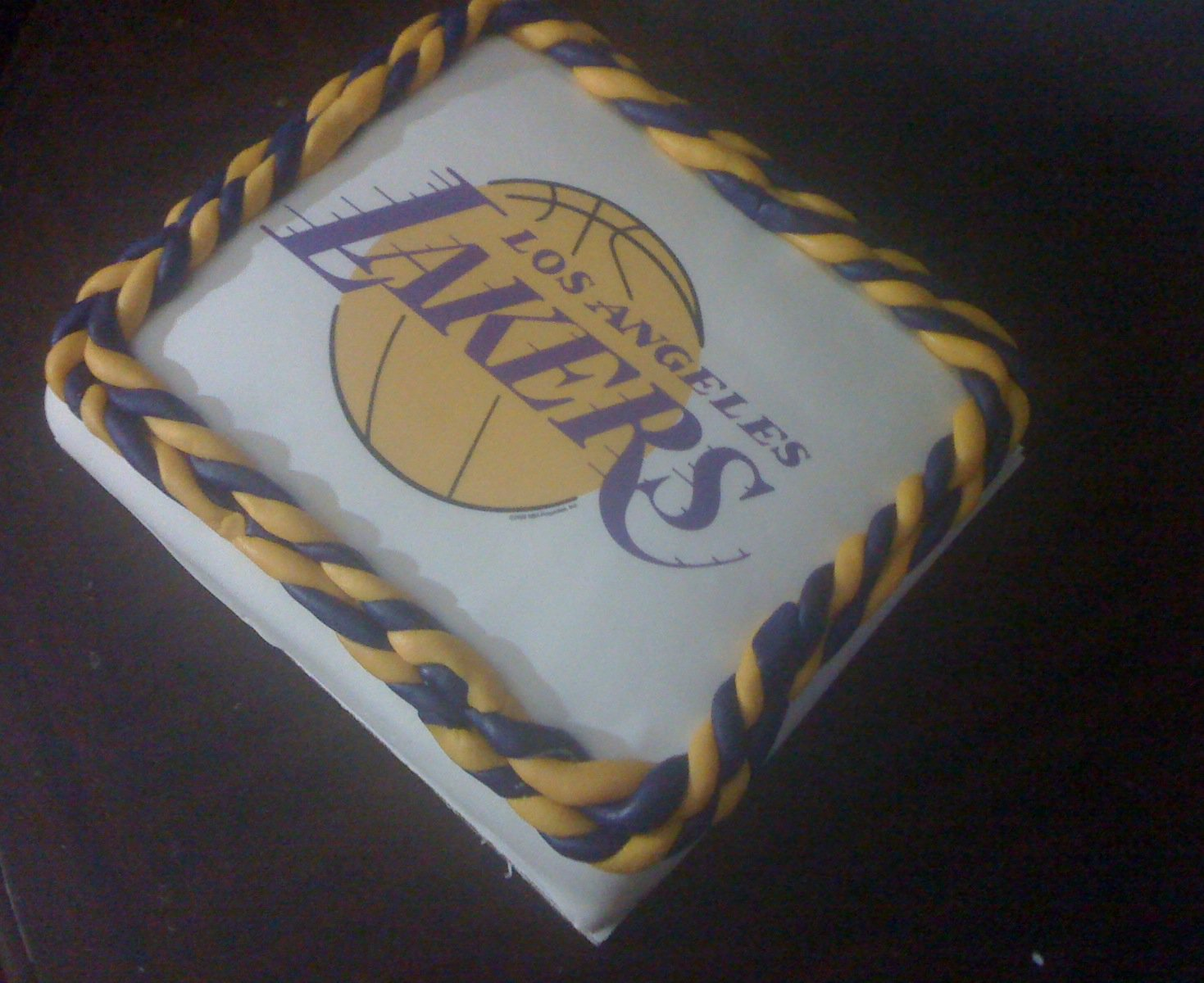 Crazy 4 Sweets Lakers Birthday Cake