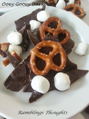 Ramblings Thoughts, Recipe, Snack, Chocolate, Pretzels, Marshmallows, Sugar, Cookbook Addition