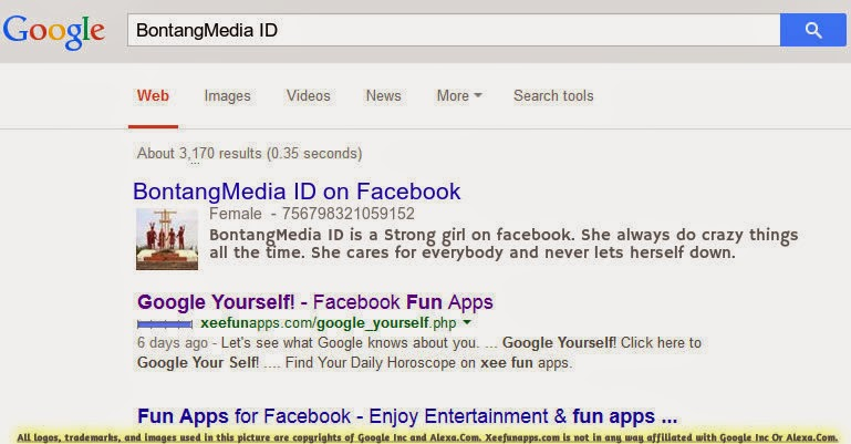 Google Yourself and See Crazy Things About You : http://xeefunapps.com