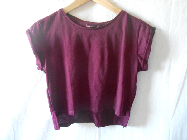 crop top bordeaux bershka