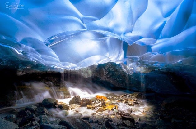 Mendenhall Glacier and  Ice Cave,  Alaska