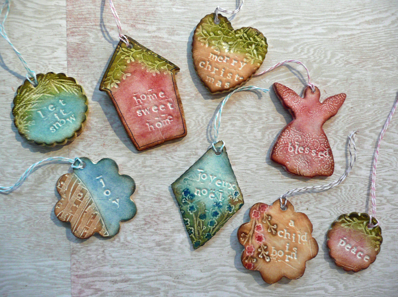 Dream create inspire paper clay ornaments for Paper clay projects