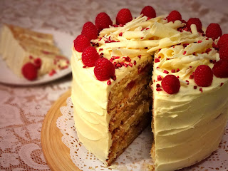 Raspberry and White Chocolate Layer Cake