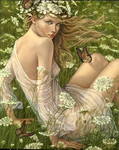 kwiaty, liście, lipa