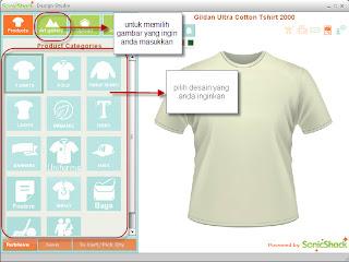Software desain t-shirt kaos