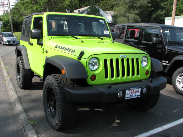 Wrangler has a 2 inch lift and 35 inch tires