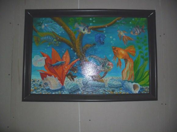 Рамка из плинтуса для картины 125