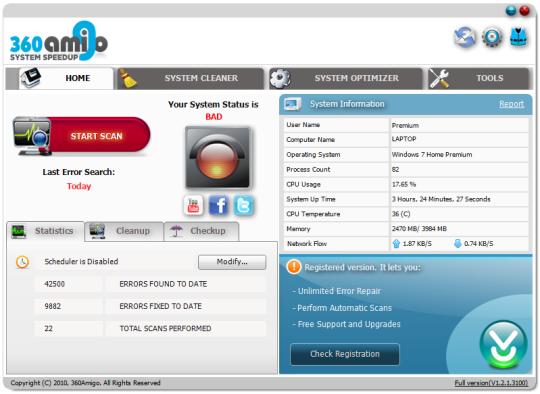 360amigo System Speedup Pro Edition Crack Serial Keygen
