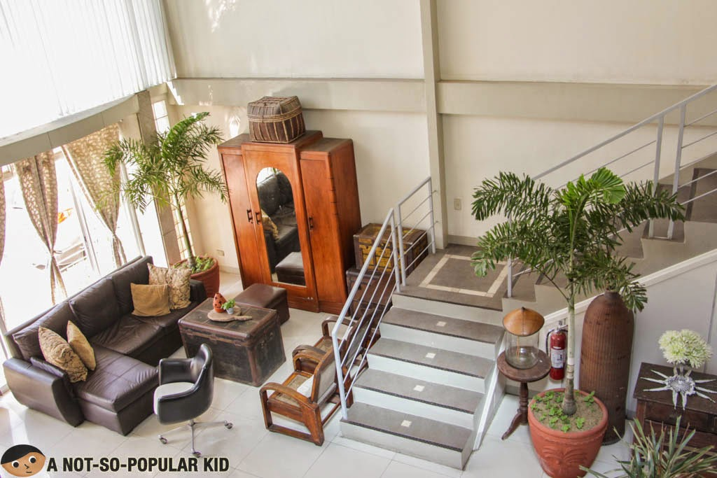 "The living room or should we say ""lobby"" of Balay da Blas"