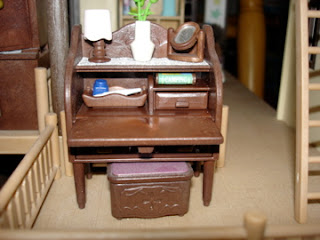 Sylvanian Families Oakwood Manor Master Bedroom Bureau desk