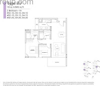 Bliss @ Kovan 2 Bedroom Floor Plans