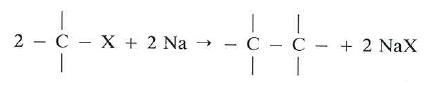obtencion de alcanos por sintesis de Wurtz