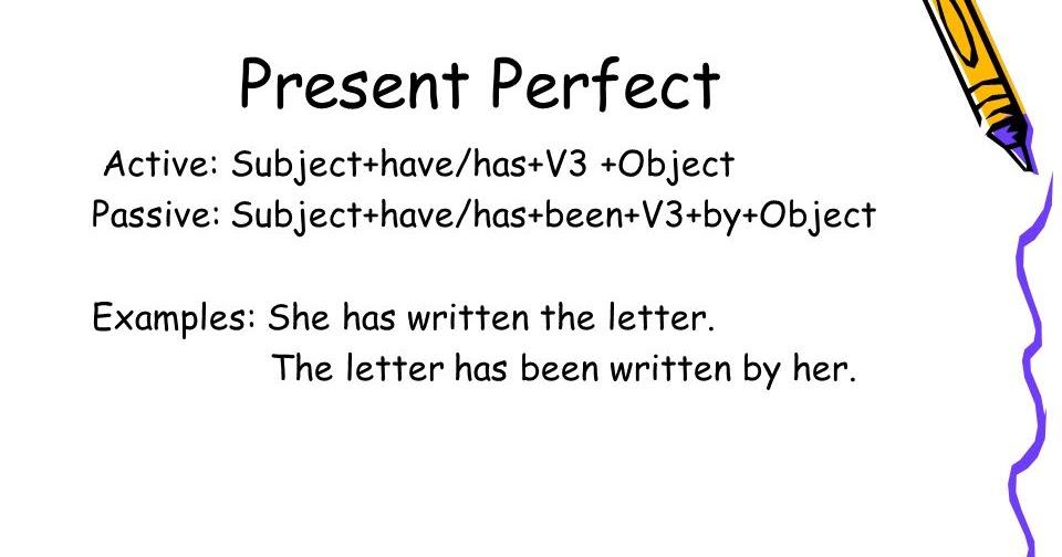 Convert Present Perfect Tense To Passive Voice Engli99