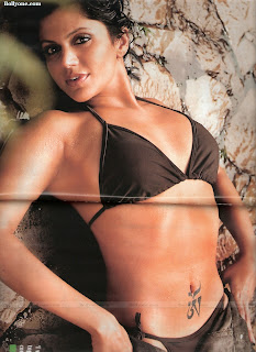 Mandira bedi without bra, bikini and panty pictures of Maxim magaxine Cover page