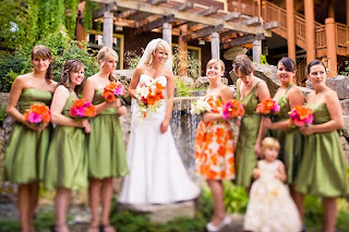 Alderbrook wedding with dahlias