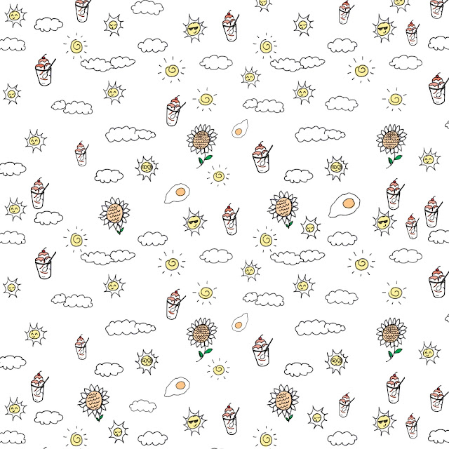 Sunday sundae ice cream pattern / happy sunday