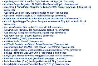 Daftar Isi Blog Berdasarkan Abjad - Alfabetis